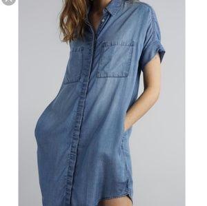 Thread & Supply Denim Button Front Dress G3270
